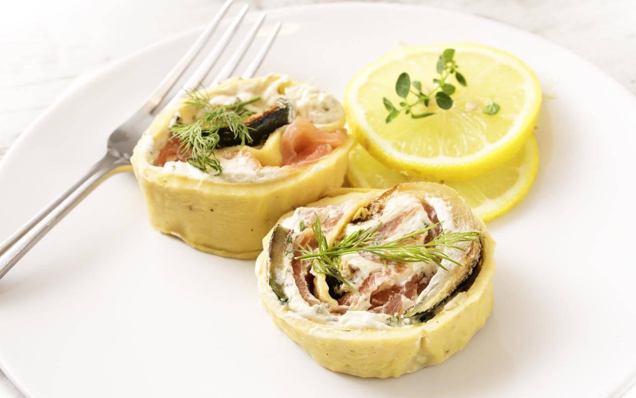 rotolo aneto salmone ricetta FOTO ricettasprint