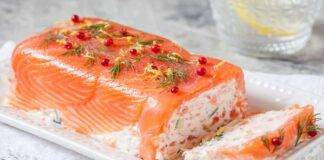 Torta di salmone