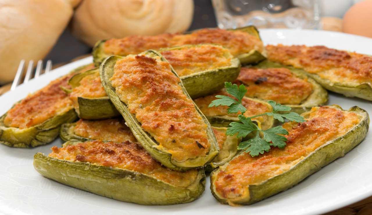 Zucchine ripiene di ricotta e formaggio