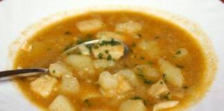 zuppa baccalà patate ricetta FOTO ricettasprint