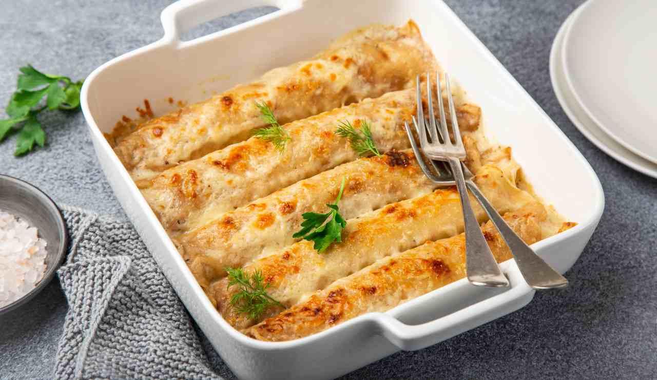 Crepes di zucca con fonduta di taleggio ricettasprint