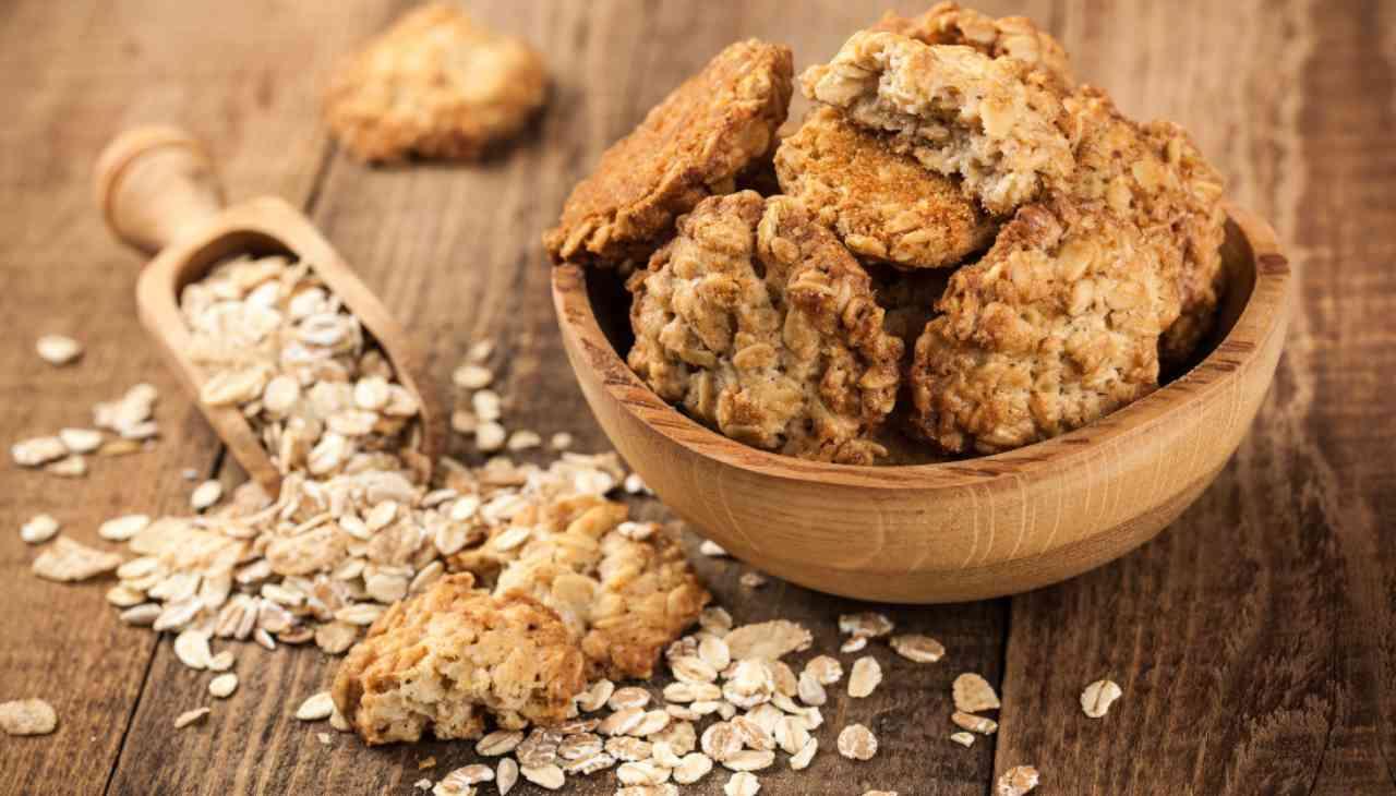 Biscotti ai fiocchi di avena ricettasprint