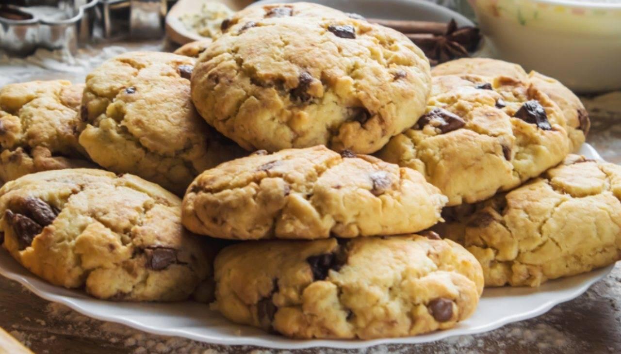 Biscotti cioccolato e uvetta senza burro ricetta