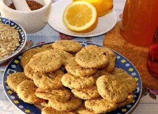 Biscotti con fiocchi di avena