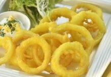 Calamaro fritti con farina di riso ricetta