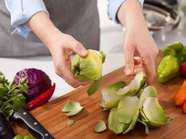 Carciofi ripieni vegetariani FOTO ricettasprint