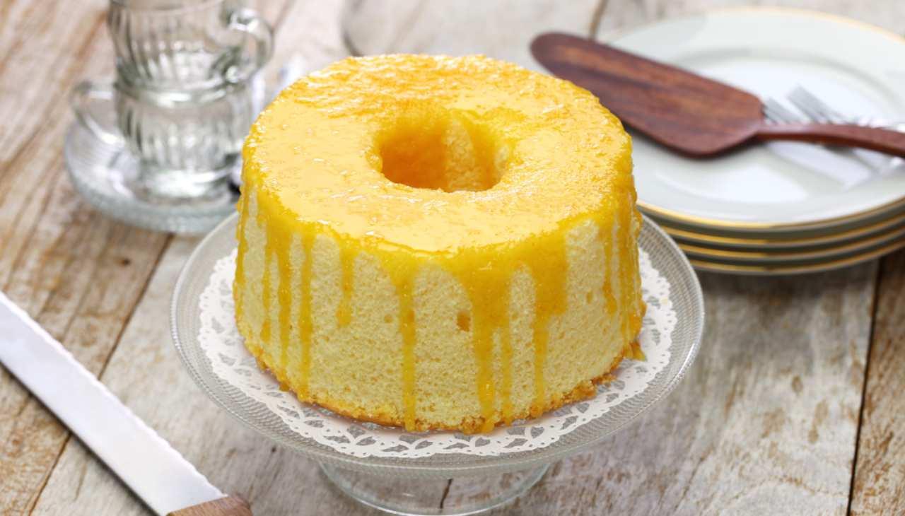 Chiffon cake all'arancia leggera ricetta