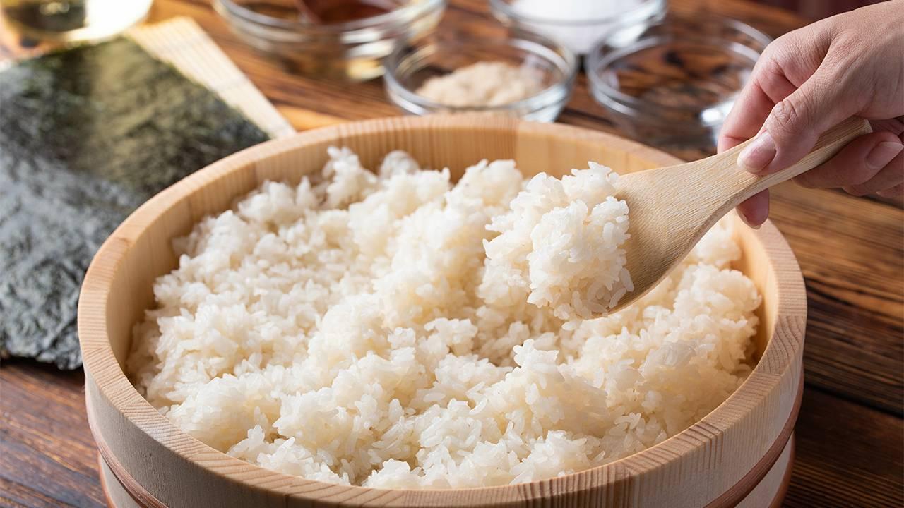 sushi preparazione del riso