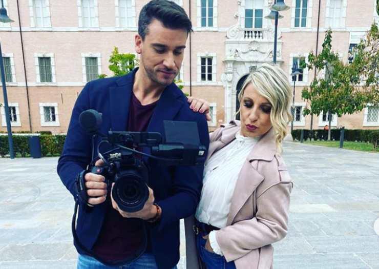 Damiano Carrara e Katia Follesa sul set - RicettaSprint