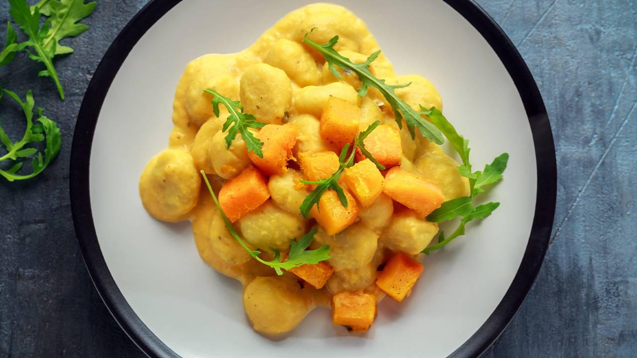 pasta con zucca e formaggio