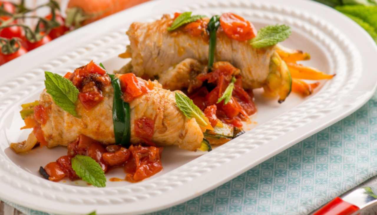 Involtini al sugo di pomodorini secchi ricetta