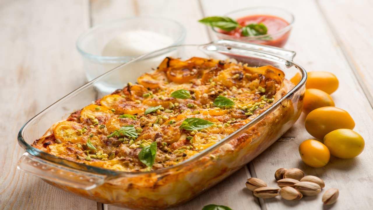 Lasagna al pistacchio