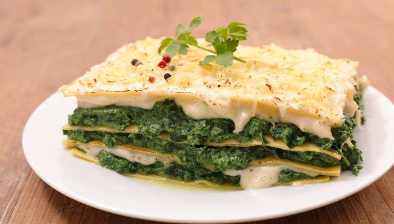 Lasagne scarola e bufala ricetta