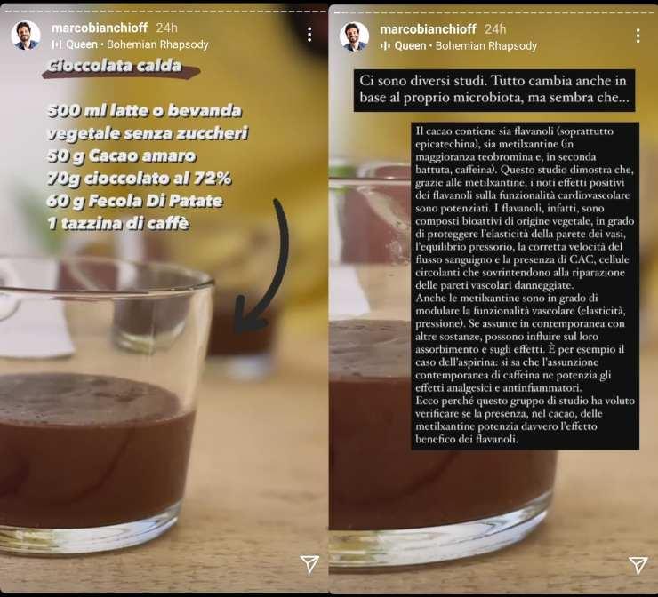 Marco Bianchi ricetta della cioccolata calda - RicettaSprint
