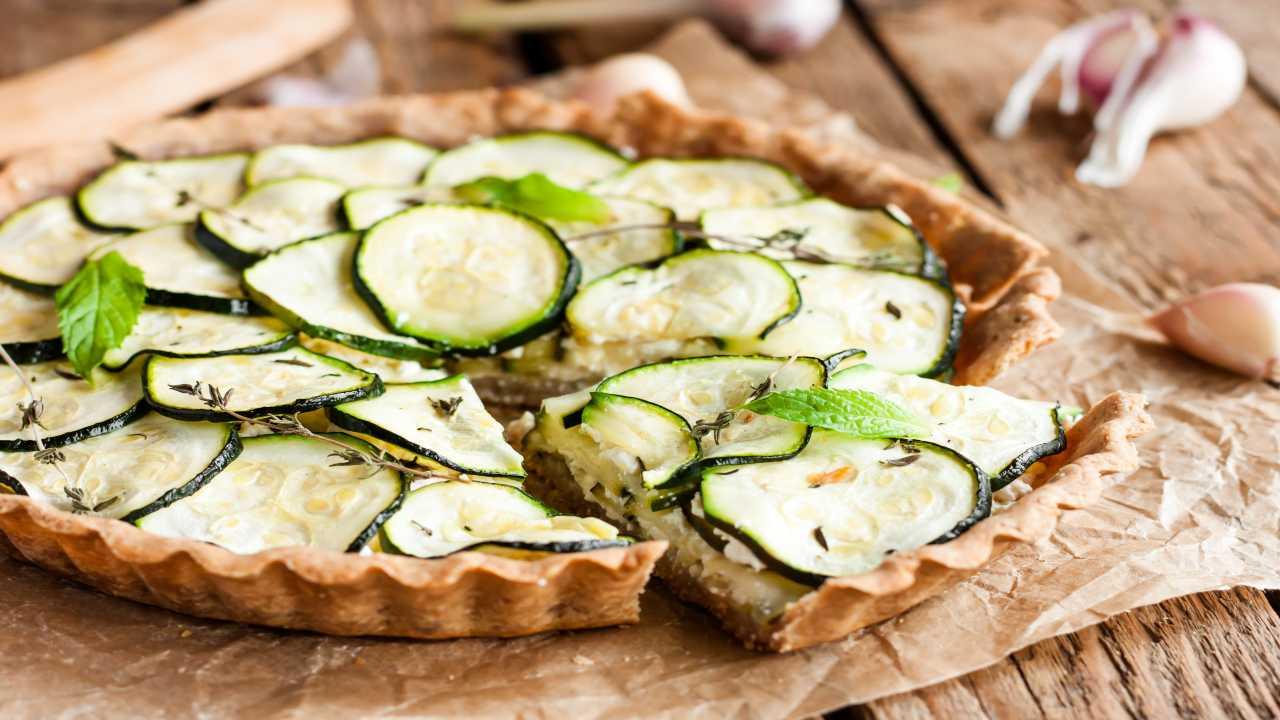 Torta integrale con zucchine