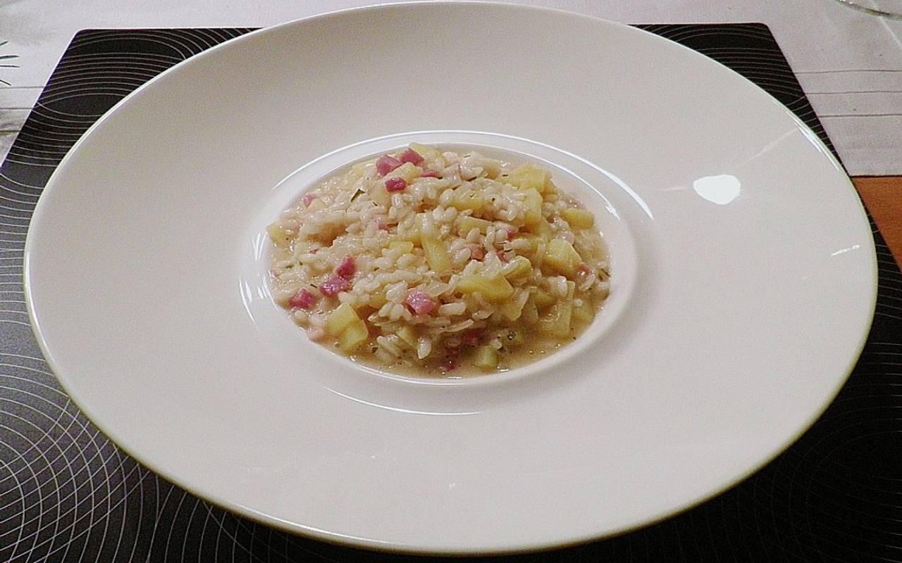 riso pancetta patate ricetta FOTO ricettasprint
