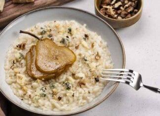 Risotto al gorgonzola con pere e noci