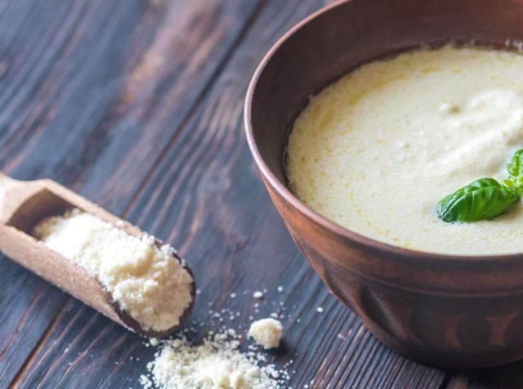 Risotto crema parmigiano con piselli ricetta