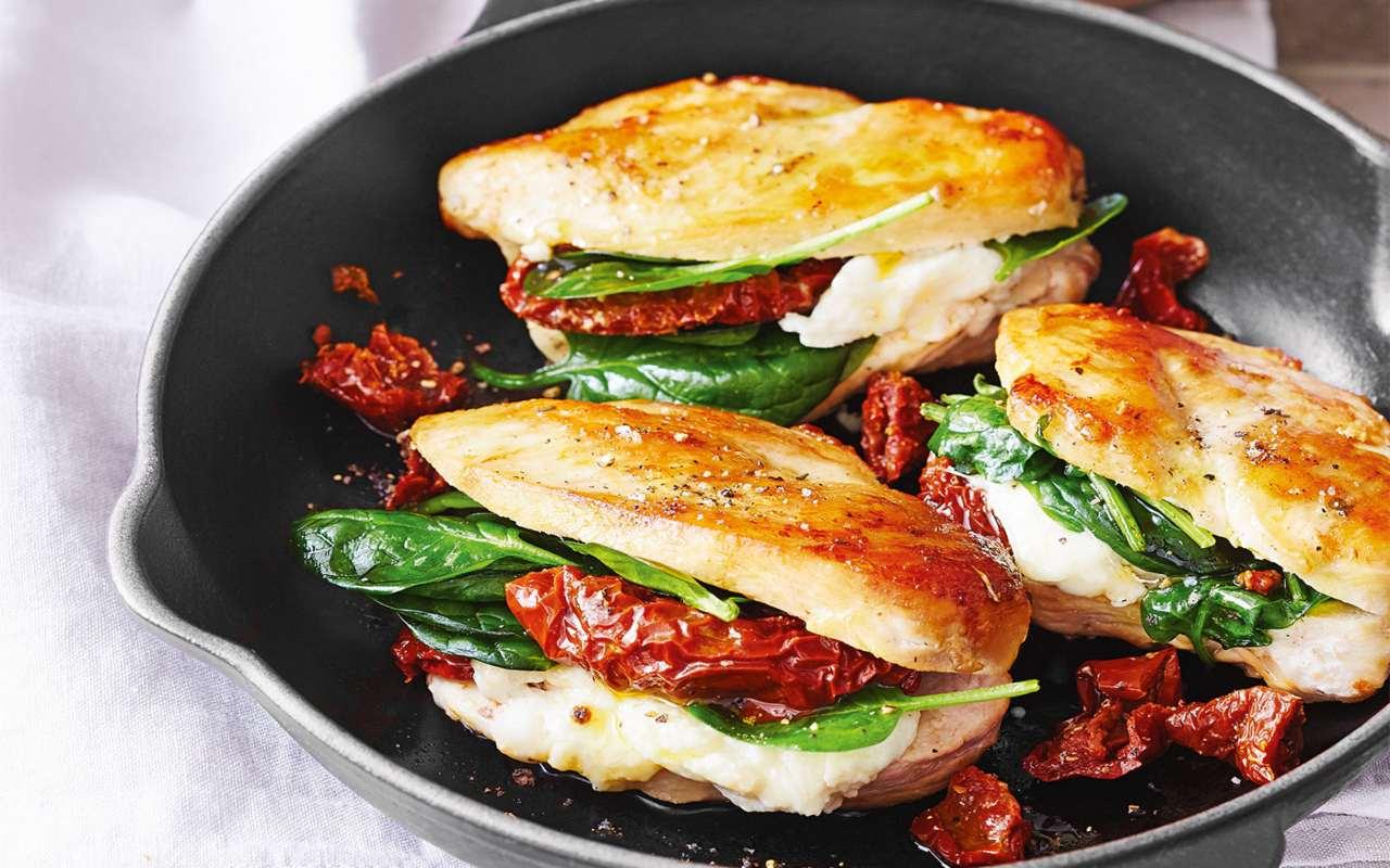 scaloppine pollo spinaci FOTO ricettasprint