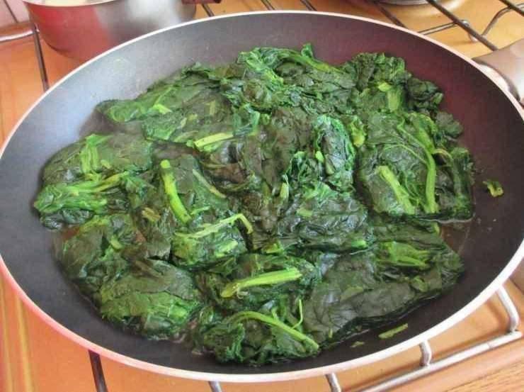 Spinaci e mozzarella al forno FOTO ricettasprint