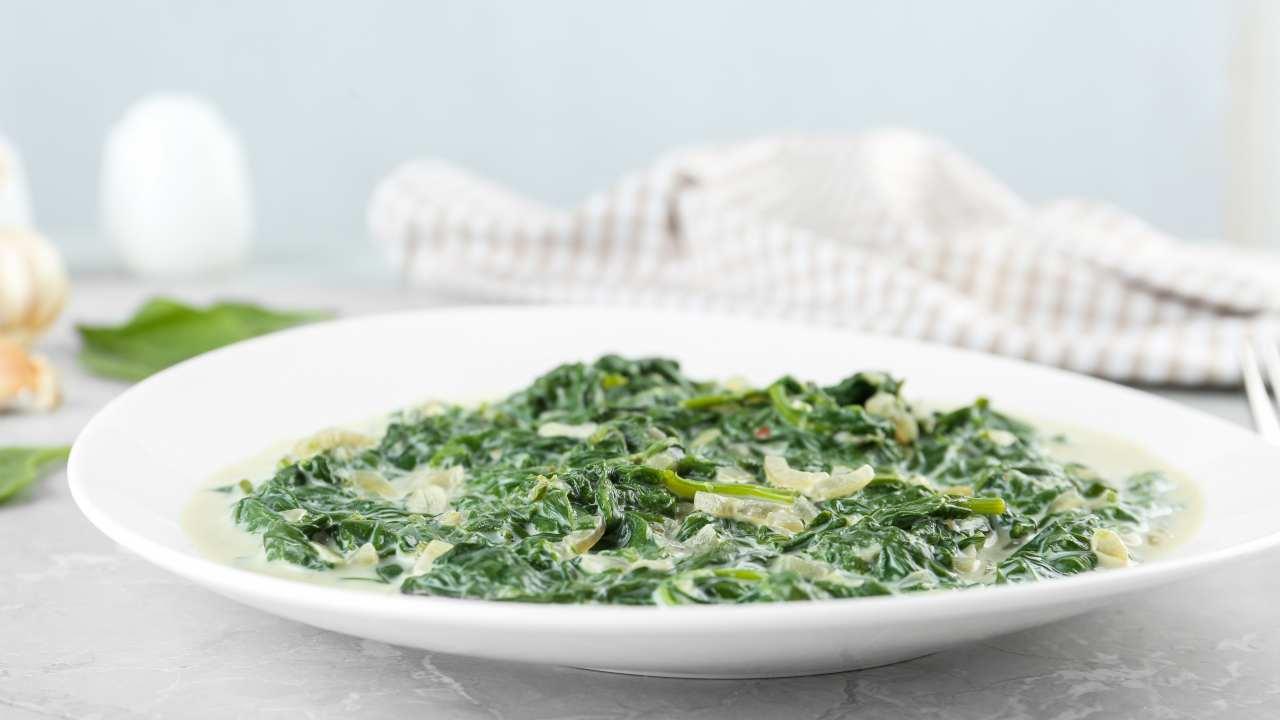 Spinaci filanti mozzarella e parmigiano