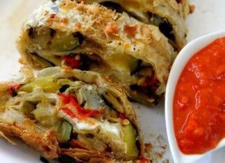 Finger food con verdure e formaggio