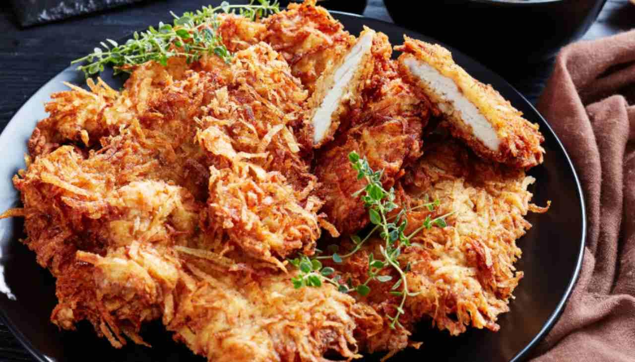 Tacchino in crosta di patate ricetta