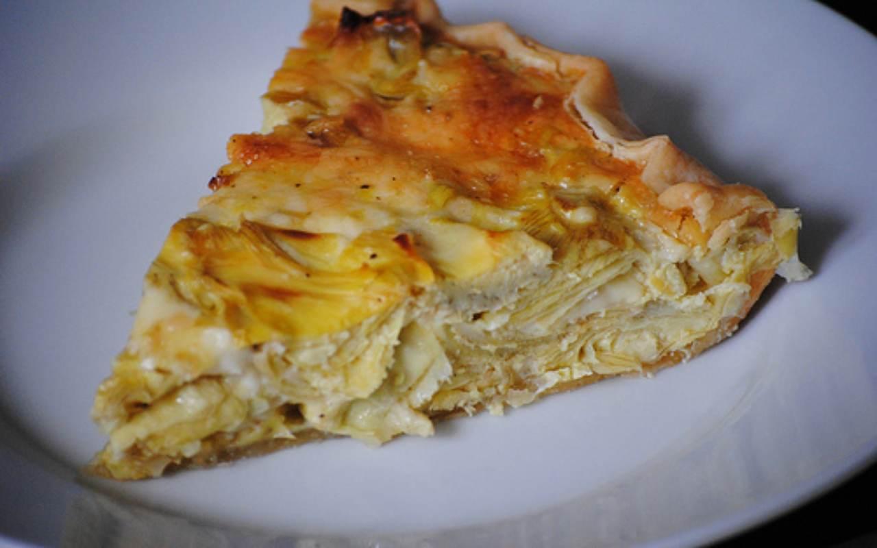torta carciofi ricetta FOTO ricettasprint