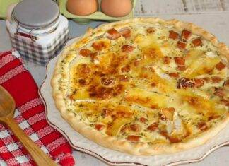Quiche con mortadella