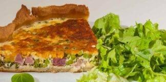torta piselli prosciutto ricetta FOTO ricettasprint