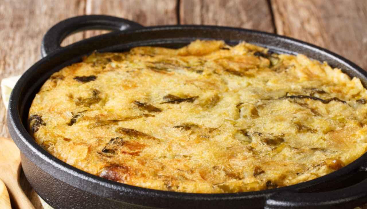 Tortino di patate in tegame senza uovo ricetta