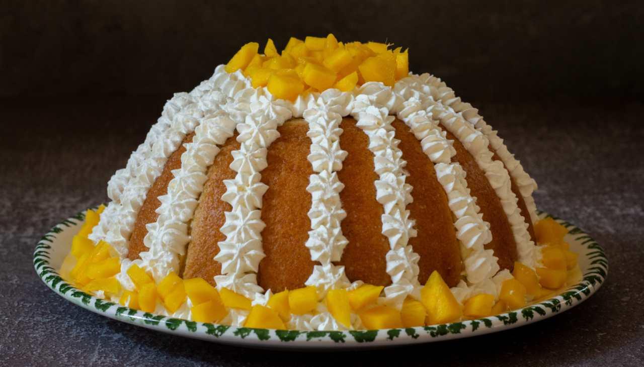 Zuccoto crema limone e panna ricetta