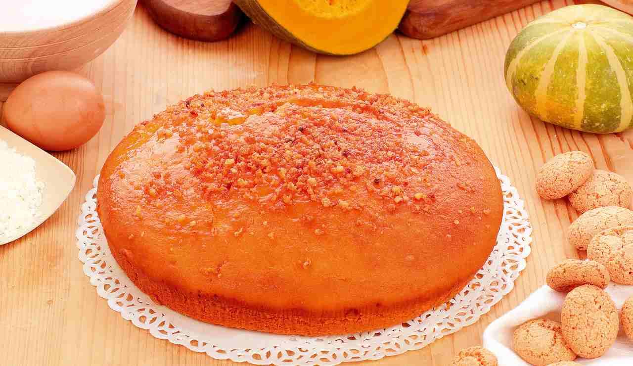 torta zucca amaretti ricettasprint