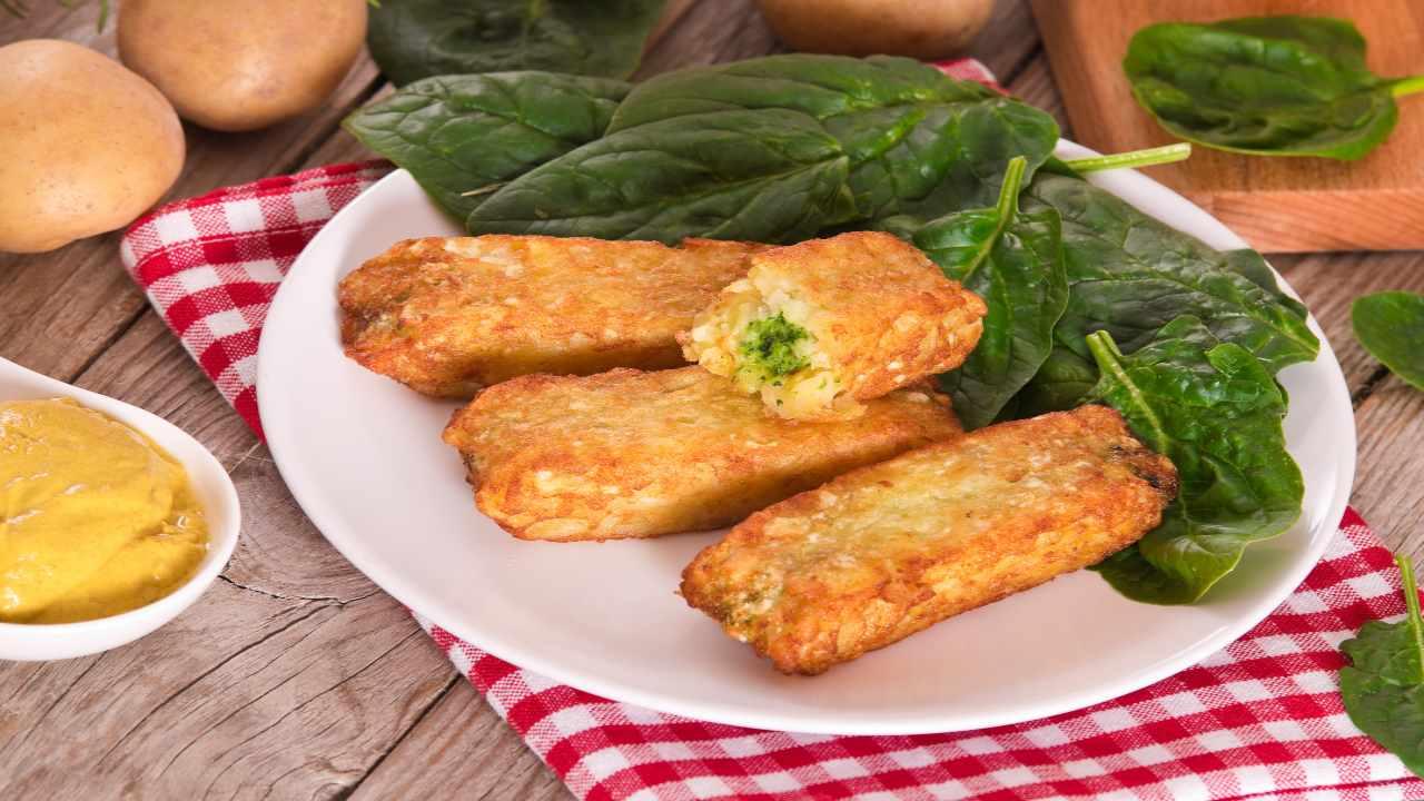 Stick di purè e spinaci