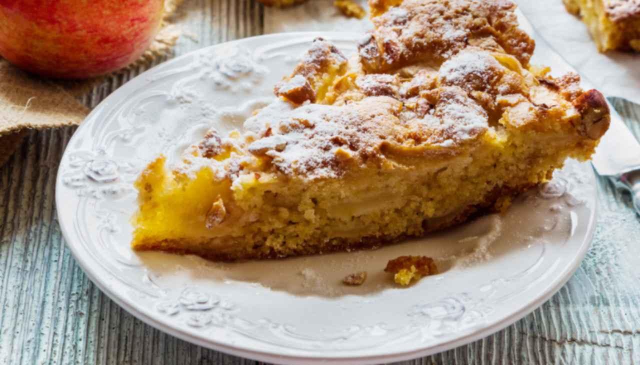 Caprese bianca mele e limone ricetta