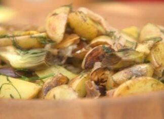 carciofi patate aglio ricetta FOTO ricettasprint