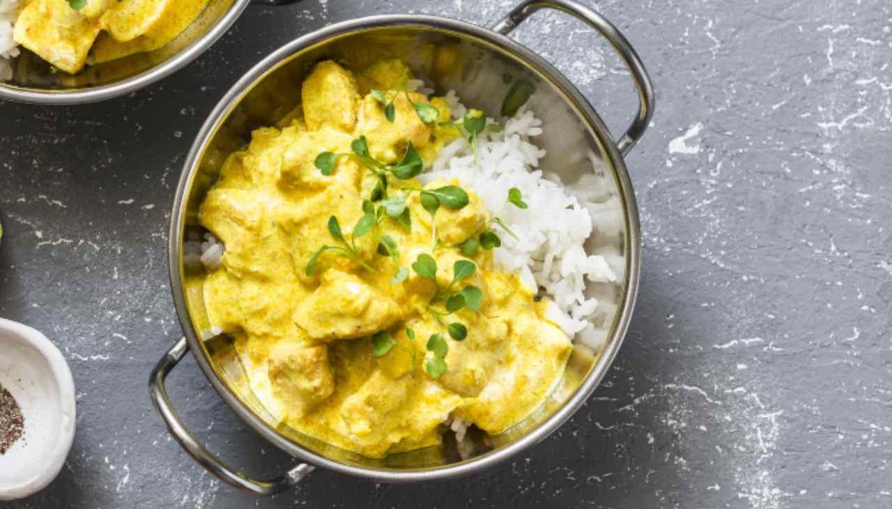 Curry di salmone ricetta