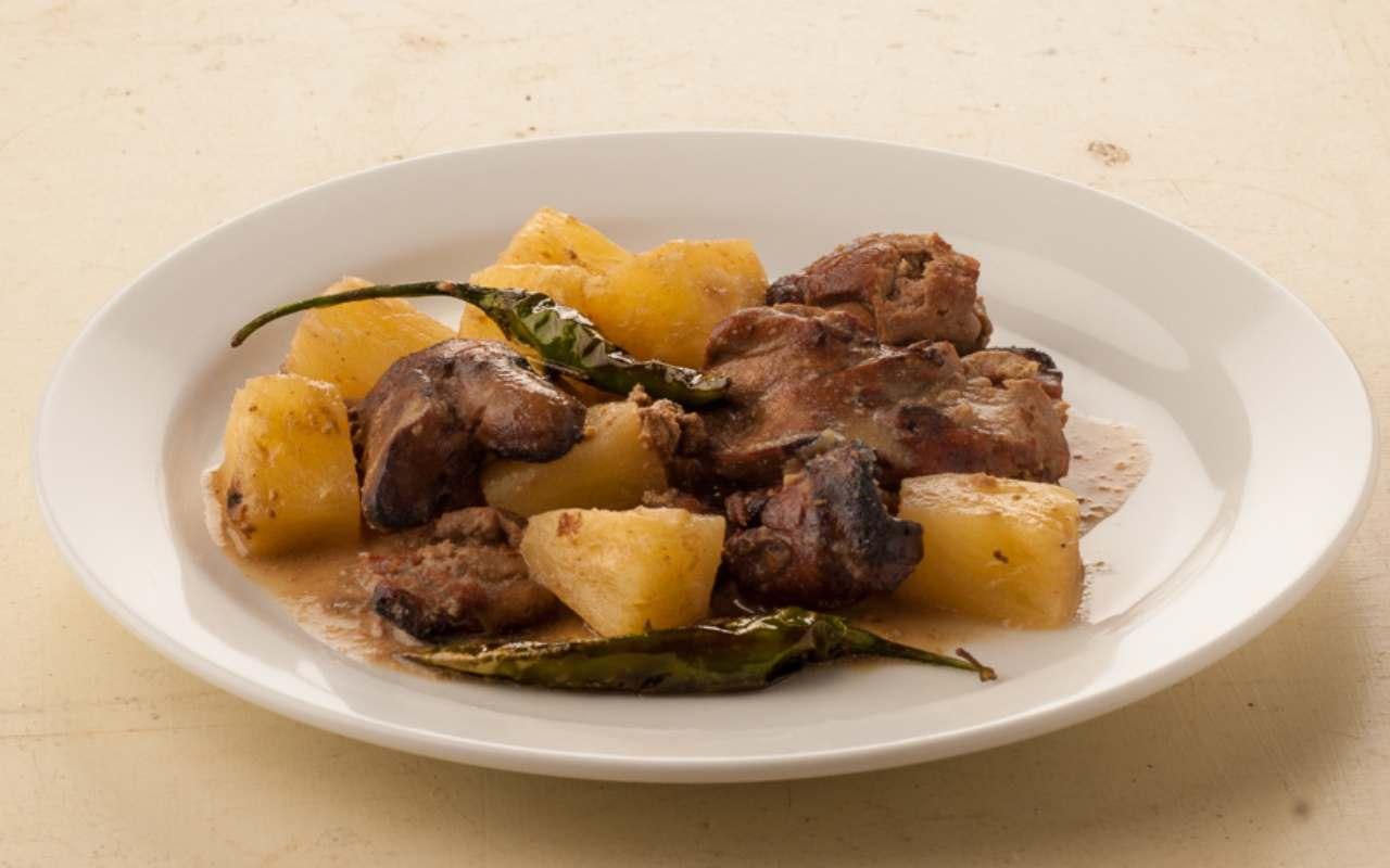 fegatini pollo patate ricetta FOTO ricettasprint