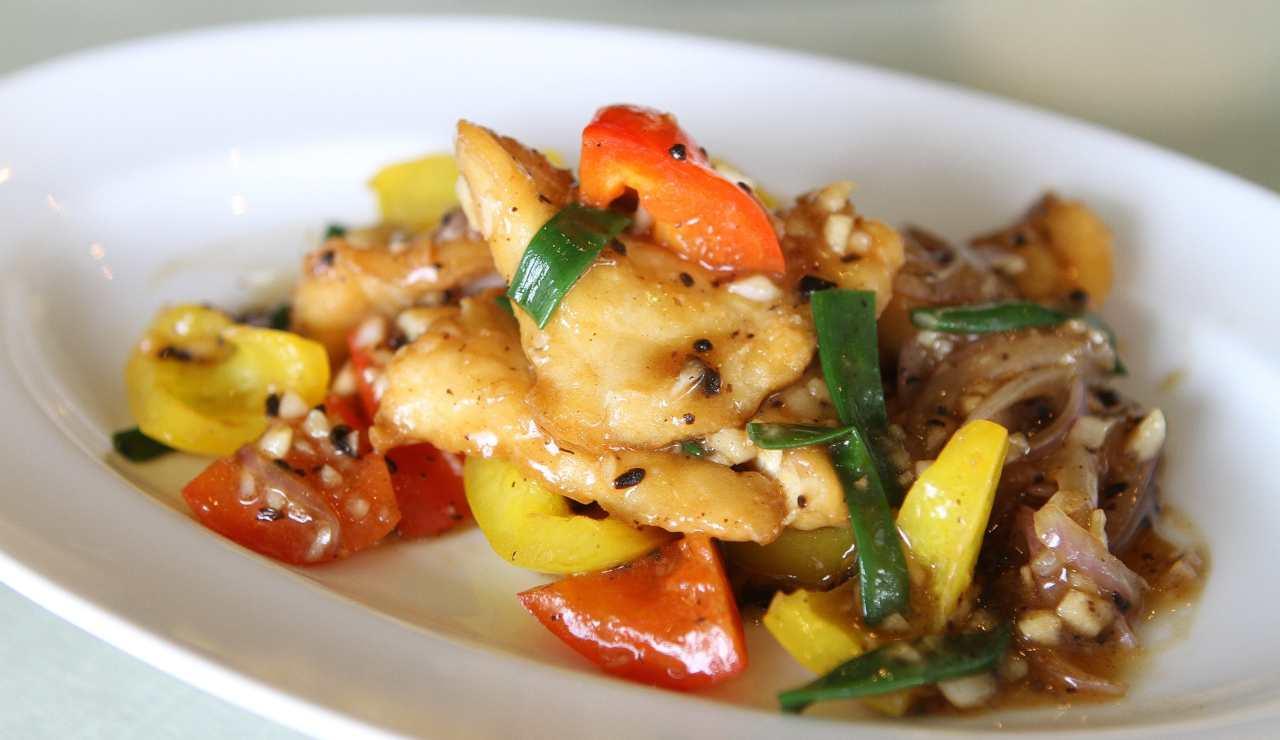 Filetti di spigola con peperoni ricettasprint