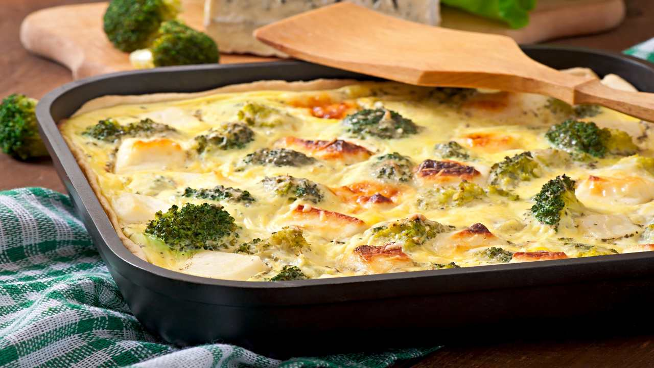 Pasta al forno con broccoli besciamella
