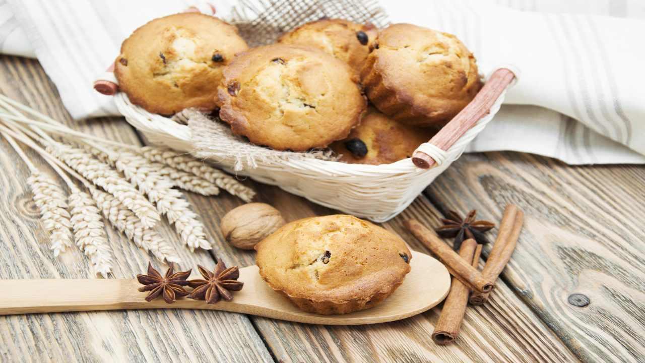 Muffin noci e cannella