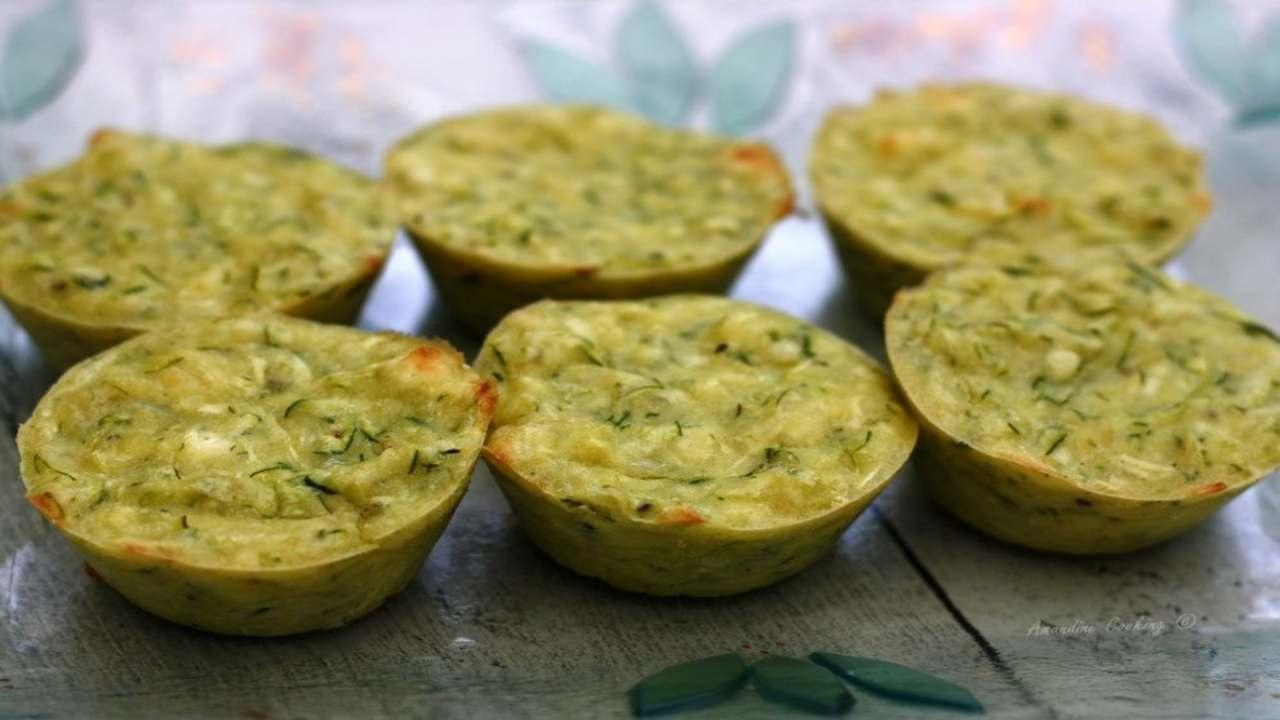 muffin zucchine ricetta FOTO ricettasprint