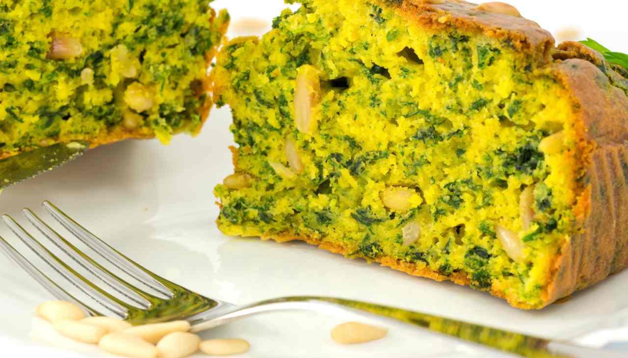 Plumcake con spinaci e ceci ricetta