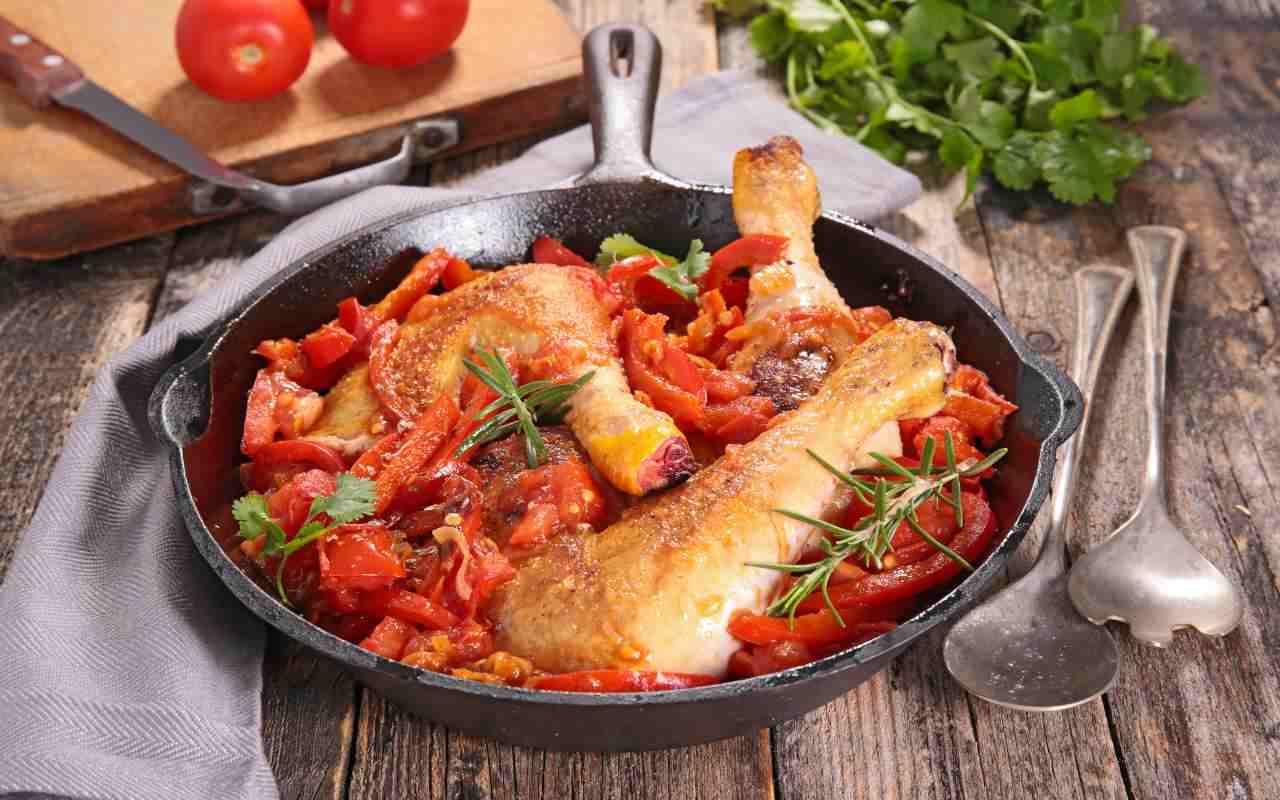 pollo light peperoni ricetta FOTO ricettasprint