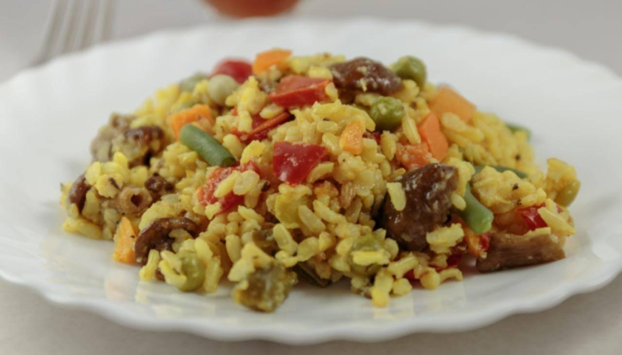 Risotto alle verdure e curcuma ricetta