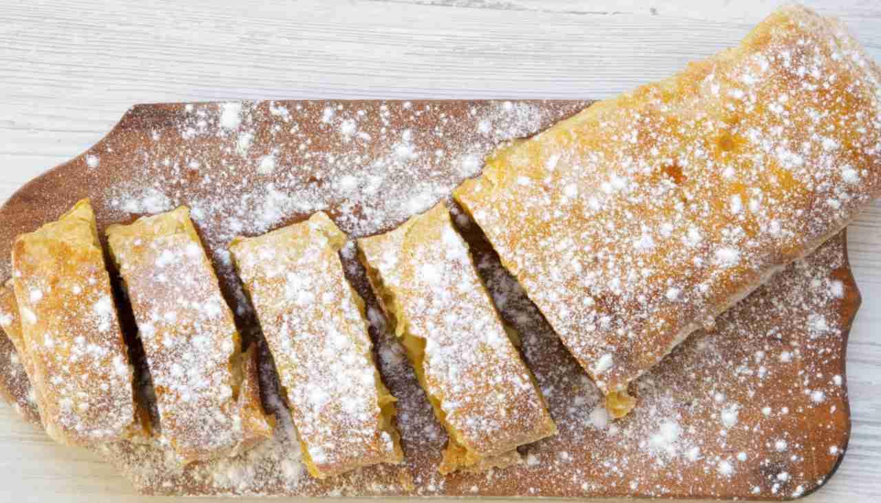 Rotolo di pasta sfoglia con ricotta arancia e cioccolato ricetta