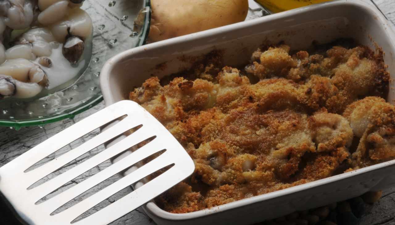 Seppie in gratin con patate ricetta