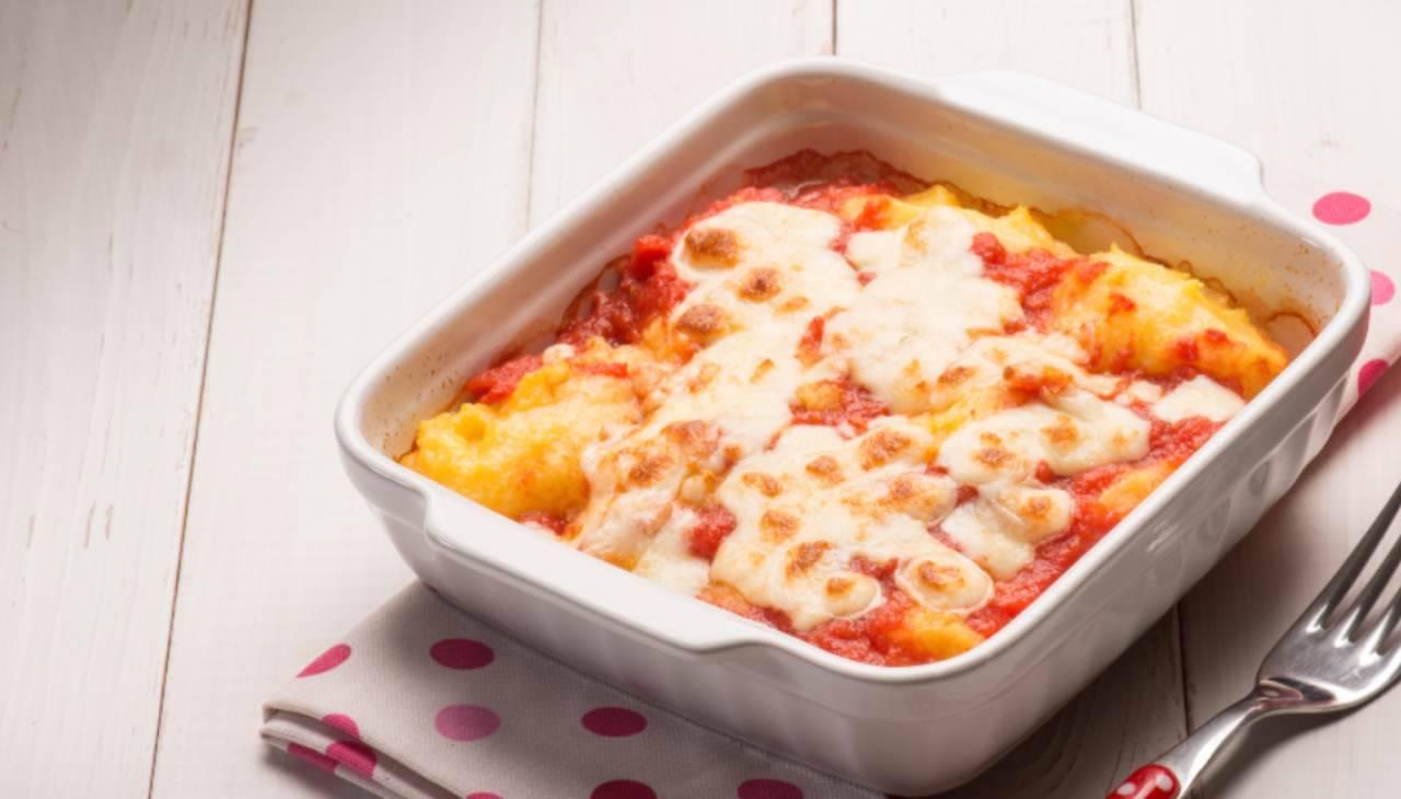 Sformato di polenta con radicchio e taleggio ricetta