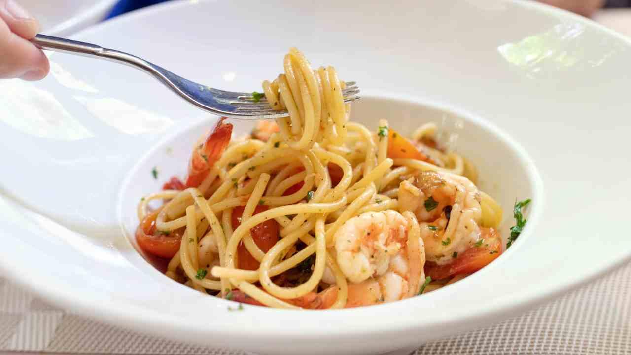 spaghetti con pesce