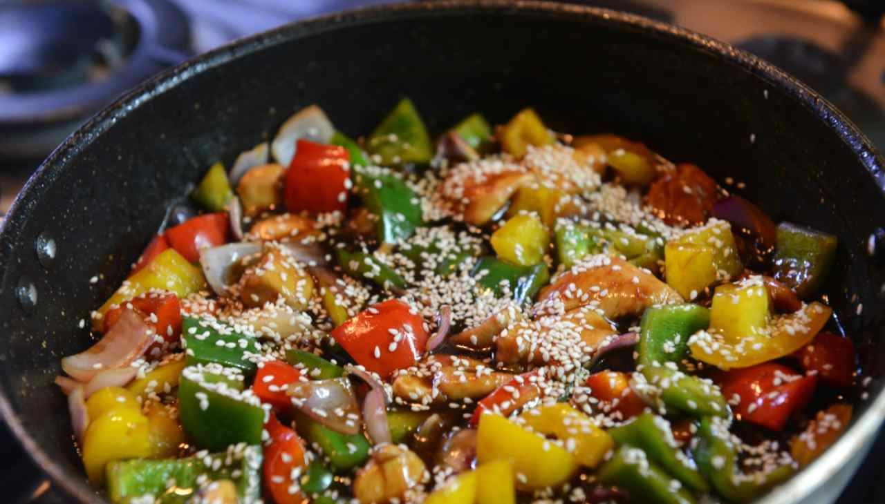 Straccetti di verdure alla orientale ricetta